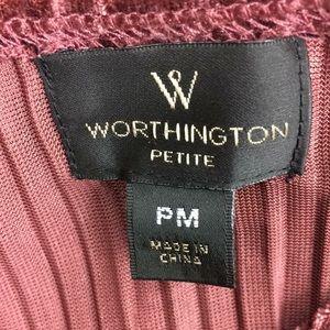 Worthington Tops - NWT Worthington pleated burgundy shortsleeved top